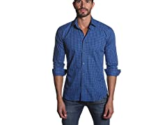 Men's Button Down Shirt, Blue Gingham