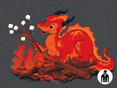 Smore the Dragon Jersey Zip Hoodie