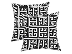 Towers Black 17x17 Pillows-S/2