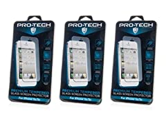 Tempered Glass Scrn Protector: 5/5S/5C 3pk
