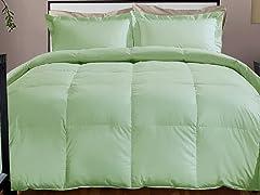 800TC Down Alternative Comforter-Sage-3 Sizes
