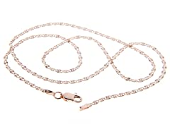 18kt Rose Gold Plated Twisted Valentino
