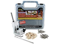 Heavy Duty, All-In-One Aluminum Pocket Hole Jig Kit