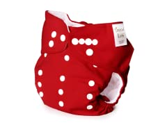 Adjustable Cloth Diaper - Red