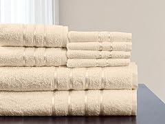 8-Pc Cotton Plush BathTowel Set-8 Colors