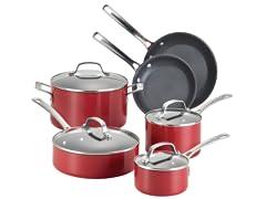 Circulon Genesis 10-Pc Cookware Set-Red