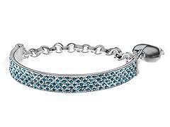 SS Blue & White Crystal Bracelet Charm