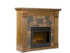 Elkmont Salem Oak Electric Fireplace