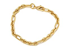 18K Gold Plated 3+1 Rolo Chain Bracelet