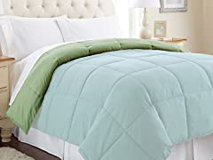Down Alt. Comforter - Queen- 12 Colors