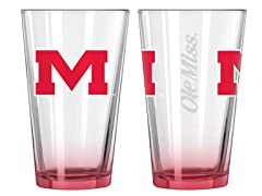 NCAA Elite Pint Glasses, Set of 2