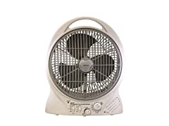 Rechargeable 12-Inch Fan with Radio/MP3