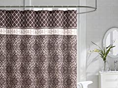 Rimini Emobssed Shower Curtain