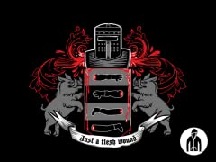 Black Knight Coat of (No) Arms Jersey Zip Hoodie