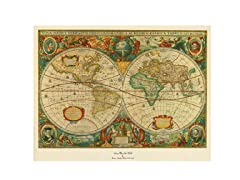 Old World Map Painting- 2 Sizes