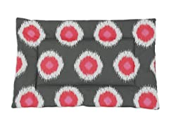 Ikat Dot Flamingo 25x17 Single  Padded Pet Bed