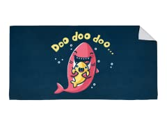 """Mommy Shark"" Beach Towel"
