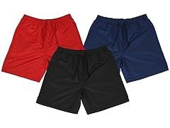 3PK Mens Quick Dry Swimming Shorts