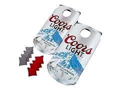 Can Shaped Cornhole Set - Coors Light