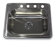 Small Rectangle Single Bowl Drop-In Sink