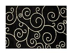 Scrolls Black 5x8
