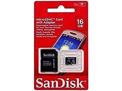 2DV7834 - SanDisk SDSDQM016GB35A 16GB microSD