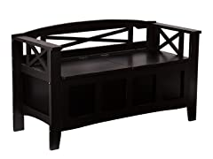 Cutler Storage Bench - Black