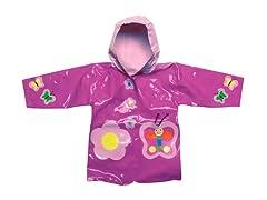 Butterfly Raincoat (2T-6X)