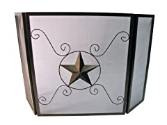 Leigh Country Fireplace Screen with Star
