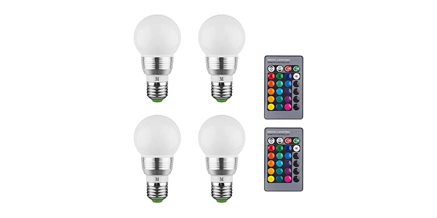 Kobra LED Color Changing Light Bulb with Remote Control- 1 Pack, 2 Pack, 4 Pack (3W)   WOOT