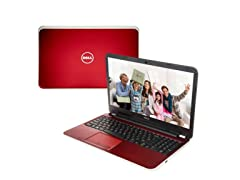 "Dell 17.3"" Quad-Core Laptop - Fire Red"