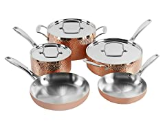 Cuisinart Tri-ply Hammered Copper Set, 8-PC