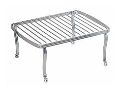 InterDesign York Lyra Chrome/Silver Rectangular Shelf