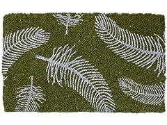 Feathers Handwoven Coconut Fiber Doormat