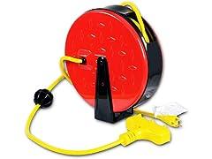 ReelWorks 30' Mini Indoor Extension Cord Reel