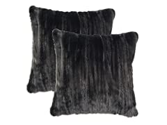 Cascade Fur Pillow: Set of 2