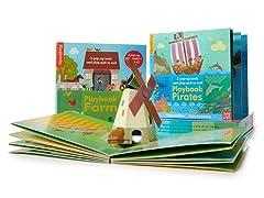 Candlewick Press Farm & Pirate Activity Book & Playmat 2PK