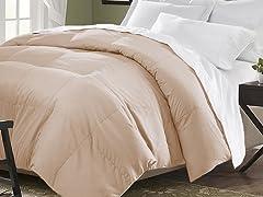 Down Blend Comforter-Khaki-King