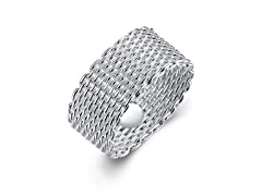 Sterling Silver Mesh Ring