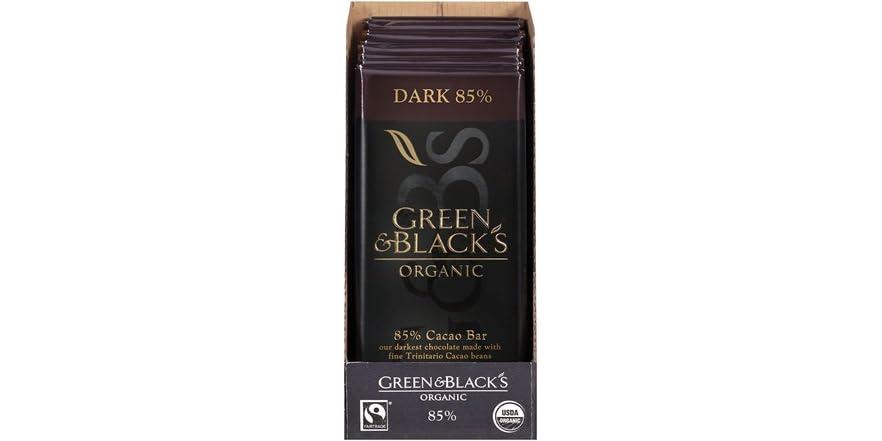 Organic Dark Chocolate 85% Cacao, 10ct