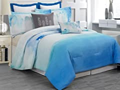 Skye Hotel 8Pc Comforter Set-2 Sizes