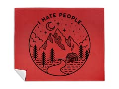 """I Hate People"" Blanket"