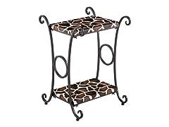 Animal Print Accent Table -  Giraffe