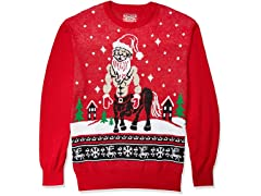 HybridApparel Mens UglyChristmas Sweater