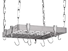 "Square Ceiling Rack - Stainless Steel  23"" x 29"""