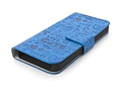 Happy Flip Case for iPhone 5 - Cerulean Blue