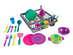 Kids Play Dish Set, 27 Pieces