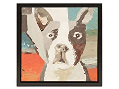 Unleashed Life Boston Terrier Oil Painiting