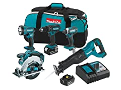 Makita 18V LXT Lithium-Ion 5-Pc. Combo Kit