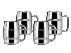 Keep-Kool Double Wall Stainless Steel Mugs 16.9 Oz. - S/4